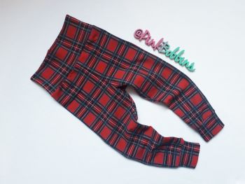Tartan leggings with optional bow cuffs - made to order