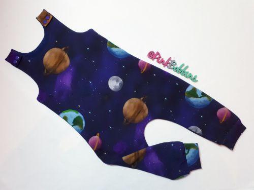 Solar system jersey romper - short or long leg