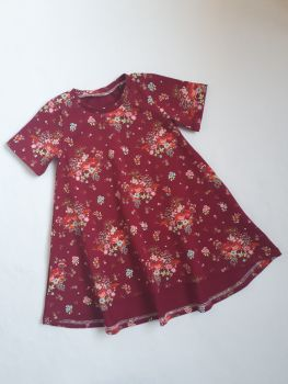 Sparkly floral t-shirt dress - made to order