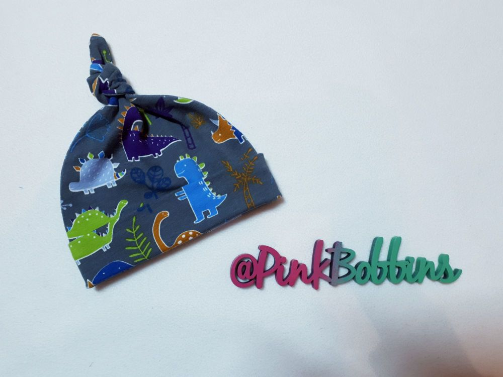 Dinosaur knot hat