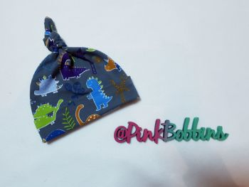 Dinosaur knot hat - made to order