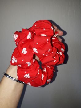 Heart scrunchie