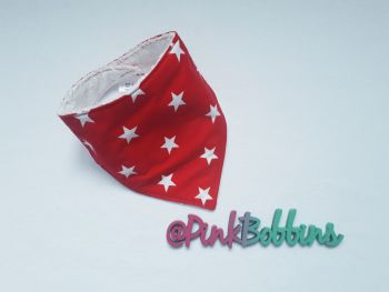 Red star dribble bib