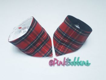 Tartan dribble bib - in stock