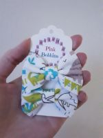 Mini bow bobbles - green dinosaurs