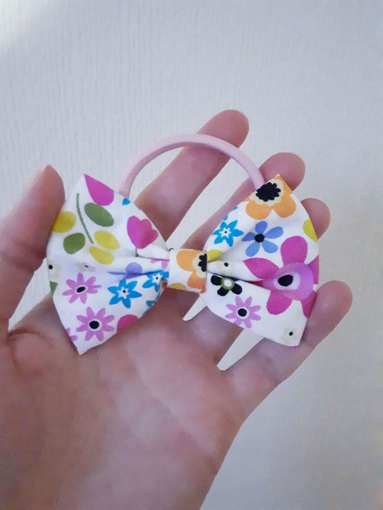 Midi bow bobble - funky floral