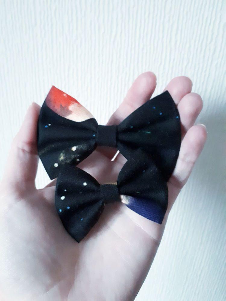 Space hair bow clip