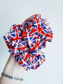 Union Jack scrunchie
