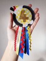 Cowboy/cowgirl rosette (no. 1-9) - made to order