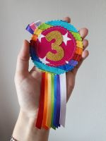 Rainbow rosette (no. 1-9) - made to order