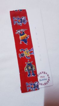 Robots elasticated bookmark
