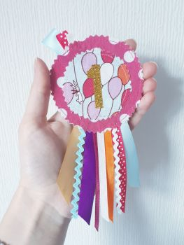 Girly No. 1 rosette *IN STOCK*