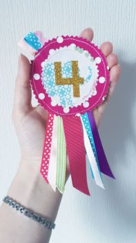 Girly elephant No. 4 rosette *IN STOCK*