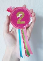 Unicorn no. 2 rosette *IN STOCK*