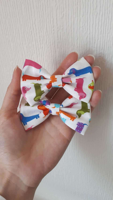 Dachshund (colourful) dog hair bow