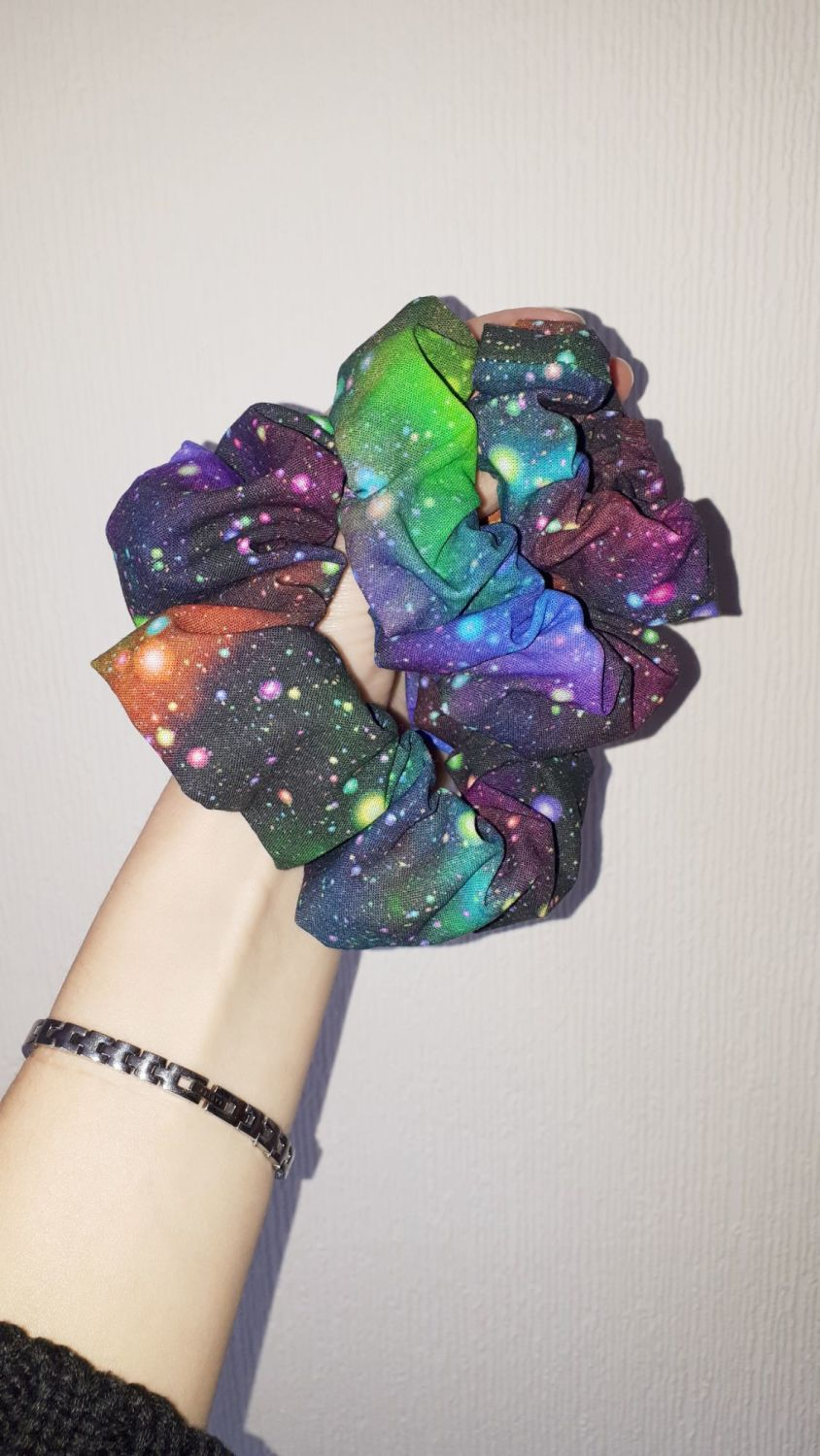 Galaxy (rainbow) scrunchie