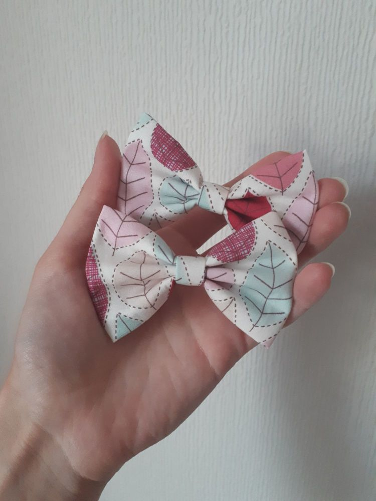Leaf hair bow *LAST ONES* midi 3.5