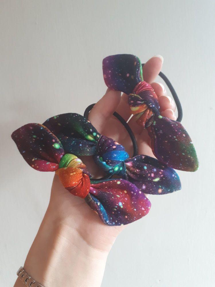 Hair tie - rainbow galaxy