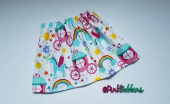 Rainbows and unicorns skirt - 3-4yrs in stock