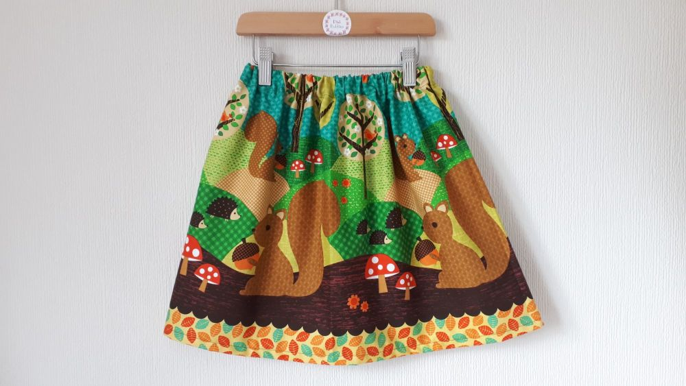 Woodland squirrel skirt