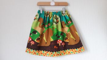 Woodland squirrel skirt - made to order