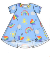 Rainbow skies t-shirt dress - made to order [exclusive design]