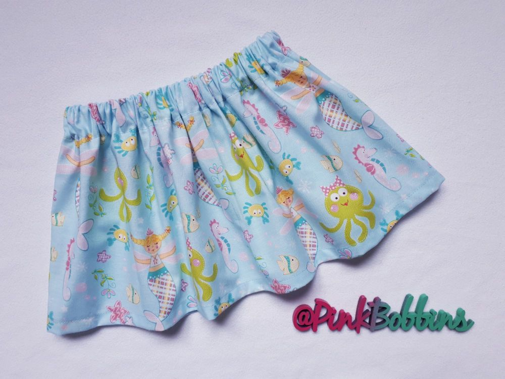 Mermaid and sea creatures skirt - made to order