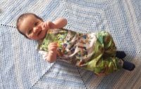Zoo jersey romper - made to order