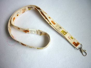 Fabric lanyard - ABC- made to order