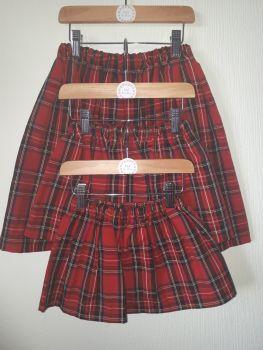 Tartan (red) skirt - made to order