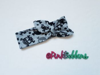 Skull stretchy headband - made to order
