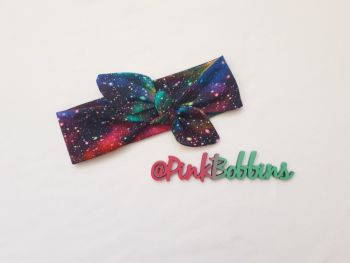 Galaxy (rainbow) stretchy headband - made to order