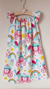 Fairytale angel sleeve dress - made to order