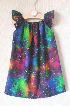 Galaxy angel sleeve dress - made to order