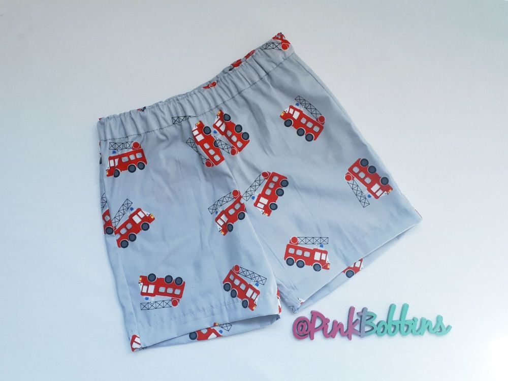Fire engine shorts - made to order