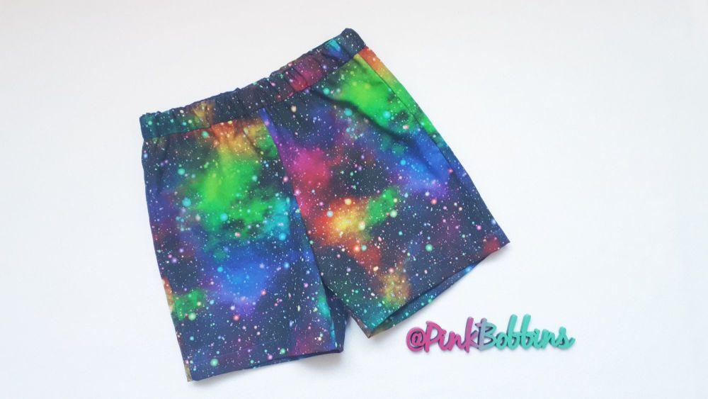 Galaxy (rainbow) shorts - made to order