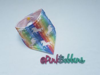 Rainbow unicorn dribble bib - made to order