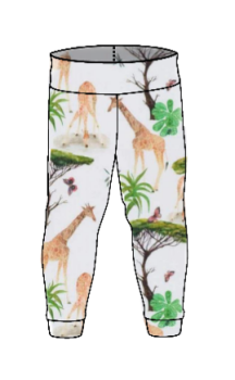 Giraffe leggings with optional bow cuffs - made to order