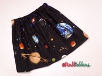 Space solar system skirt - made to order
