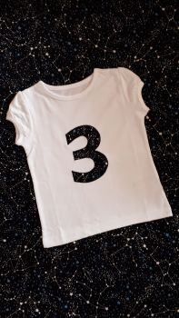 Girl's birthday t-shirt - constellation design - any number!
