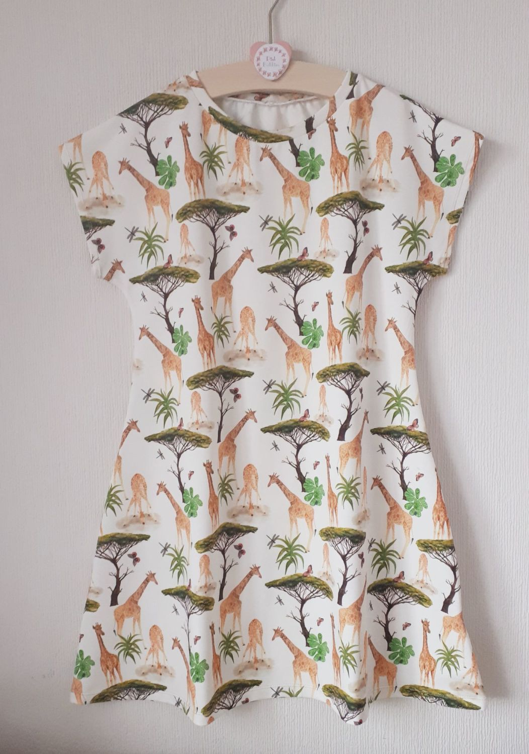 Giraffe comfy dress - made to order