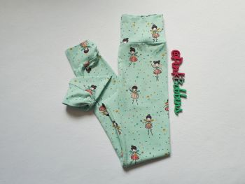 Fairy leggings with optional bow cuffs - made to order