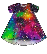 Galaxy (rainbow) t-shirt dress - made to order