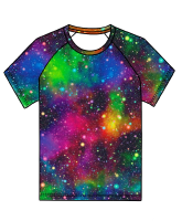 Galaxy (rainbow) raglan tee (short or long sleeved) - made to order