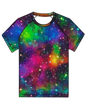 Galaxy (rainbow) raglan tee (short or long sleeved) - made to order