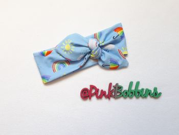 Rainbow Skies stretchy headband (exclusive design] - made to order