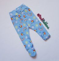 Rainbow Skies footed leggings [exclusive design] - made to order