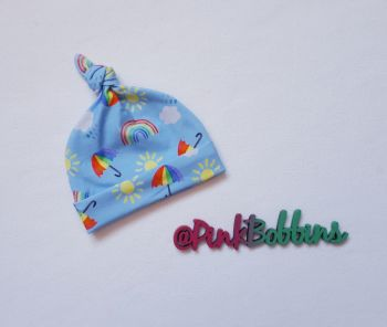 Rainbow Skies knot hat [exclusive design] - made to order