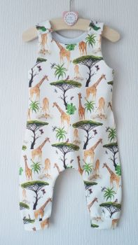 Giraffe jersey romper - short or long leg - made to order