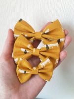 Dachshund (mustard) dog hair bow - mini, midi or large size - in stock